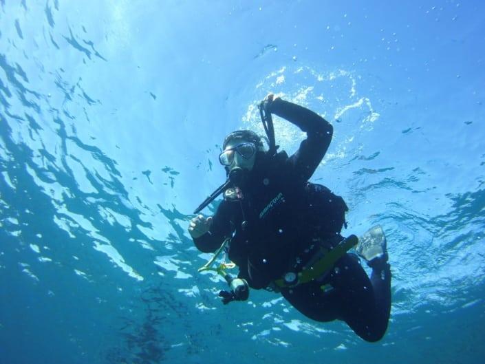 Comienzo de la inmersión