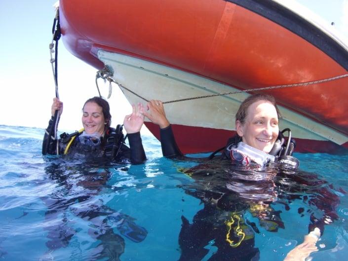 inmersión con barco