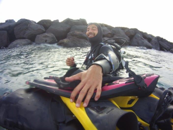 inmersión en playa de las vistas