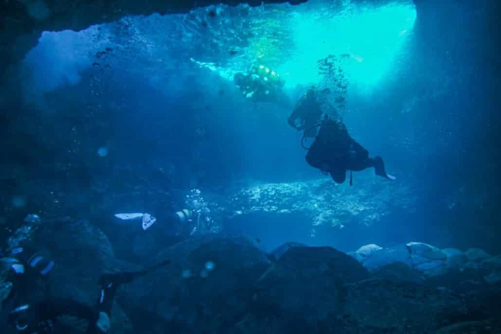 inmersión en Mar azul