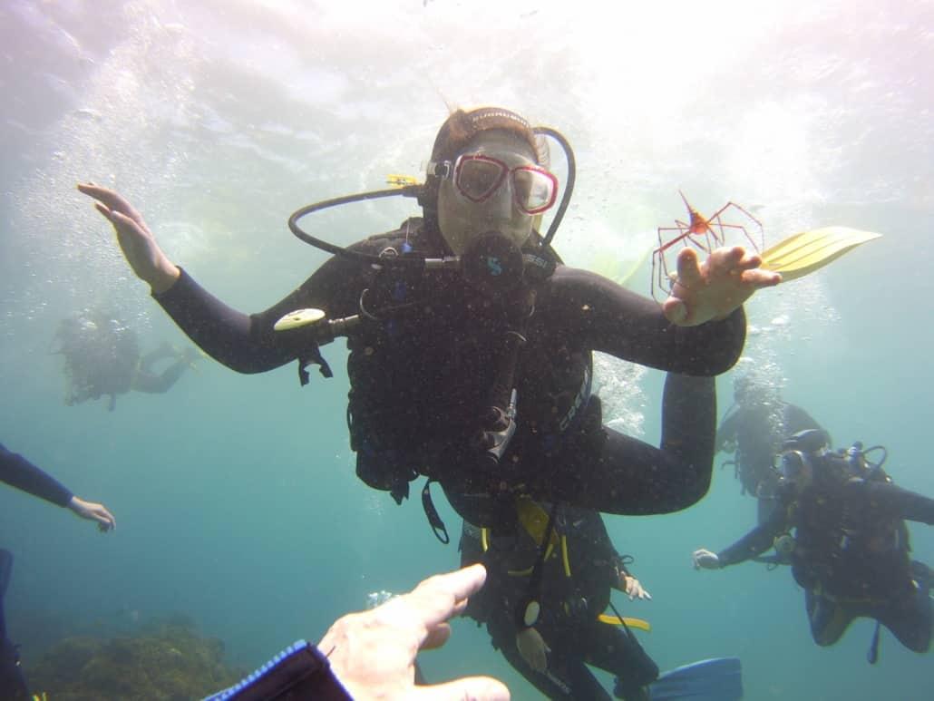 inmersión con bautismo